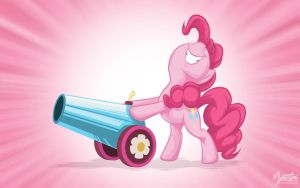 Pinkie Pie - Party Cannon Wall by mysticalpha