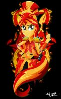 Legend of Everfree: Sunset Shimmer by Ilona-the-Sinister