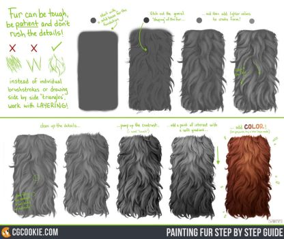 Exercise 45 Results: Fur Step by Step Guide by CGCookie