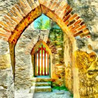 Old Abby Doorway by oldhippieart
