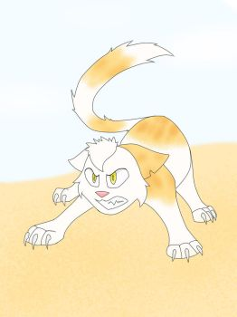 Fight on the Dunes (ArtFight) by CleverSkeleton