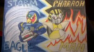 Storm Eagle and Pharaoh Man - Colored by RobotMasterMavericks