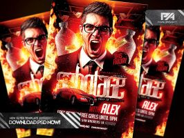 Sabotage Party Flyer PSD Template by pawlowskiart