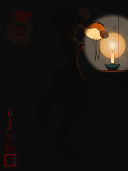 Becoming a woman in the candlelight by OraTheRebelKitsune
