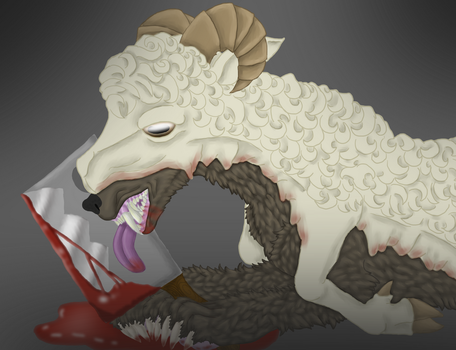 A Sheep with another Pelt by ShedragonArtist