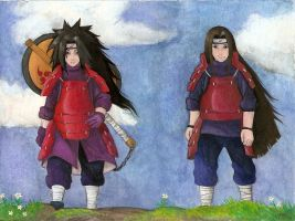 madara and Hashirama by Liedeke