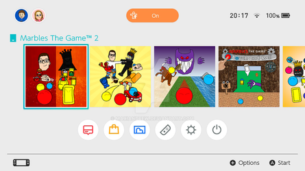 Nintendo Switch OS with Marbles The Game games by maxiandrew