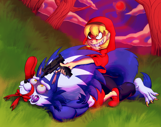 LITTLE RED HUNTING HOOD by EvilSonic2