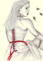 Bound by a red ribbon by Flowertree-elf