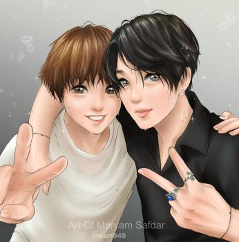 Jungkook and Jimin - After concert by Mari945