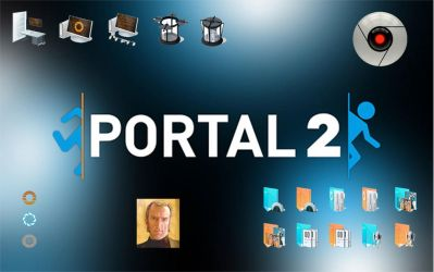 Portal 2 Windows 7 icon sound theme pack by etriv