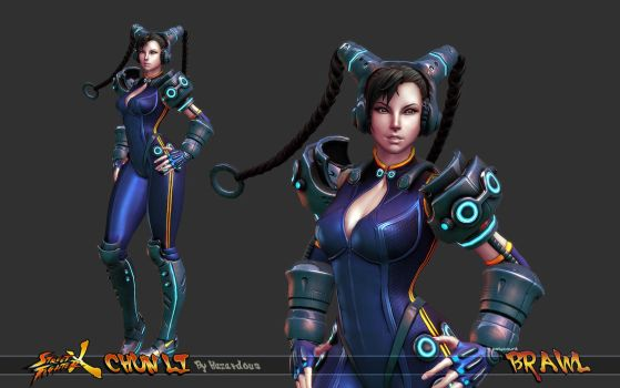 Cyber Chun Li Beauty Shot 1 by HazardousArts