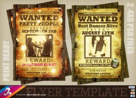 WANTED Flyer Templates by AnotherBcreation