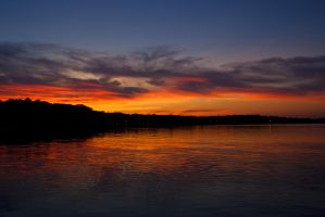 Vibrant Sunset on the Bay III by MrDSir
