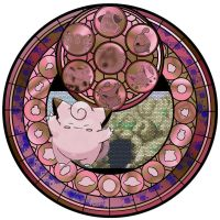 Clefairy Stained Galss