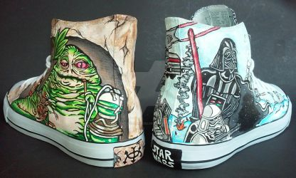 Custom Star Wars Jabba's Palace Hoth Battle Shoes by rachelliles352