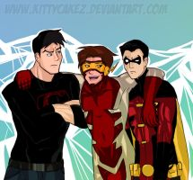 The REAL Young Justice : ART TRADE by kittycakez