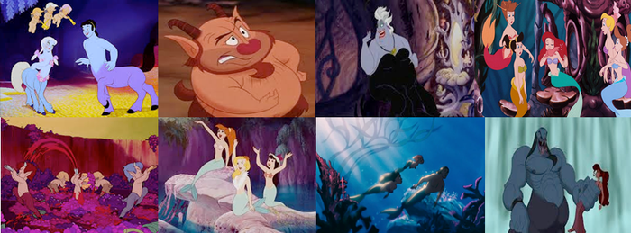 Disney Half Human Mythological Creatures in Movies by dramamasks22