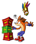 Crash Bandicoot and the crates by ThePandamis