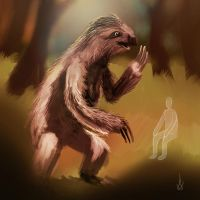 giant sloth by tiredsloth