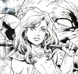 Red Sonja cover by aethibert
