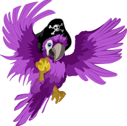 Purple Pirate Parrot by engelgraphics