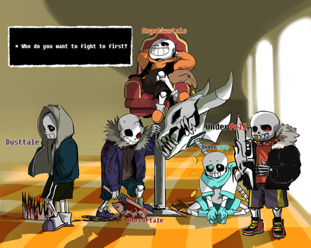 *you faced five sans on judgement hall. by nogoojing