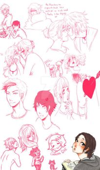 A very Pink Art Dump by Never-Stop-Lovin-Me