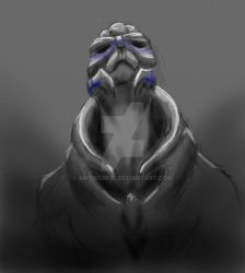 Garrus - lost without you - sketch by AMYisC0P1C