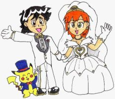 A Gold and Silver A+M Wedding by nintendomaximus