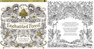 Enchanted Forest Coloring Book Cover By SDGalifrey
