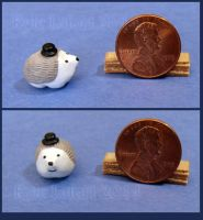 Miniature Hedgehog Wearing A Top Hat No 2 by Kyle-Lefort