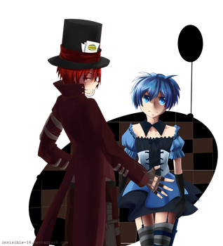 Karma the Mad Hatter x Nagisa the Lethal Alice by invisible-16