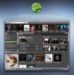 Spotify concept by chanq