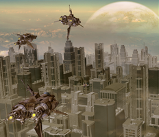 Over the City by FrumiousBee