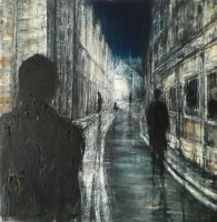 Alone at Night, 72x73cm, ooc, 2015 by lesley-oldaker