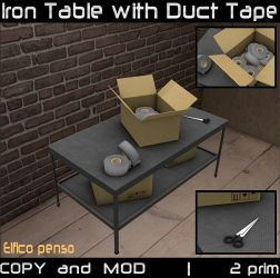 Iron Table with Duct Tape by Aksanka93