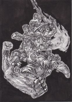 SNK Illustration in China Ink by DemiuM666