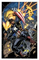 Ultimate Capt. America colors by TheBob74