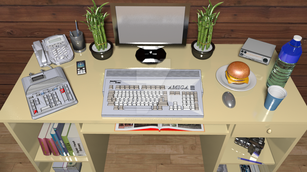 My Imaginary Amiga Desk - R2 by takeshimiranda