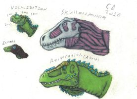 TODS:Tyrannosaurus Head sketch by GeneralHelghast