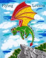 Flying Lesson - Comic Cover by Wollfisch