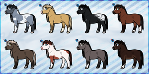 Horse adoptables (Closed) by buckuroo
