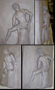 Relief sculpture by Amichi-the-Duelist