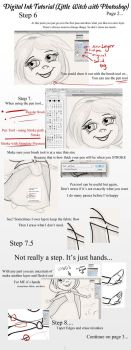 Little Witch Tutorial - Ink/ Line Work page 2 by ZellyKat