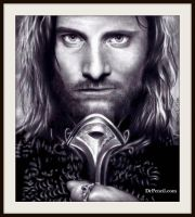 King Aragorn - Lord of The Rings - Viggo Mortenson by Doctor-Pencil