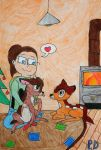 Christmas with Bambi and Ronno by Plamifan10