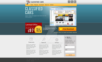 website design for classified cars by ishee