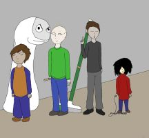 Baldi and gang Fanart by Shotgungamer8