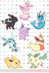 Mini Eevee-lutions by hollarity